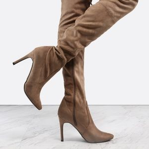 Pointed Toe Stiletto Thigh High Boots